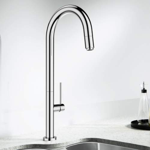 Blanco TRIM-FLEX Kitchen Tap with Pull-Out Hose in Chrome - BM1520CH