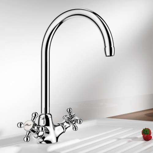 Blanco VISTA Traditional Kitchen Tap in Chrome - BM1100CH