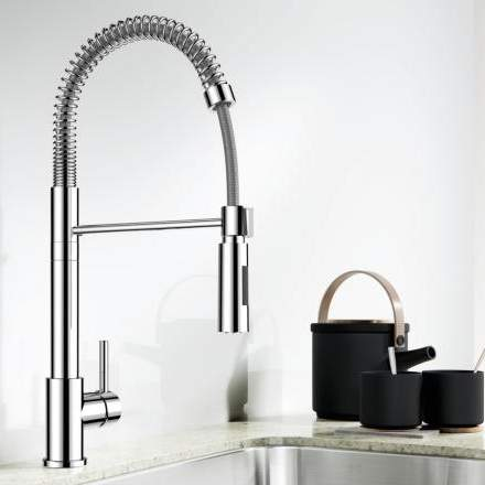 Blanco ELLIPSE Professional Style Kitchen Tap with Pull Out Spray - BM1640CH