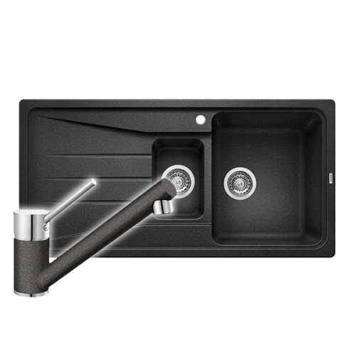 Blanco SONA 6 S 1.5 Bowl Kitchen Sink & PEAK Single Lever Kitchen Tap Pack