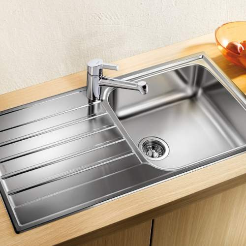 Blanco LIVIT XL 6 S Single Bowl Inset Kitchen Sink with Drainer - BL453364