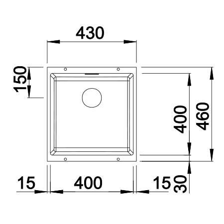 Blanco SUBLINE 400-U Silgranit® PuraDur II® Undermount Kitchen Sink