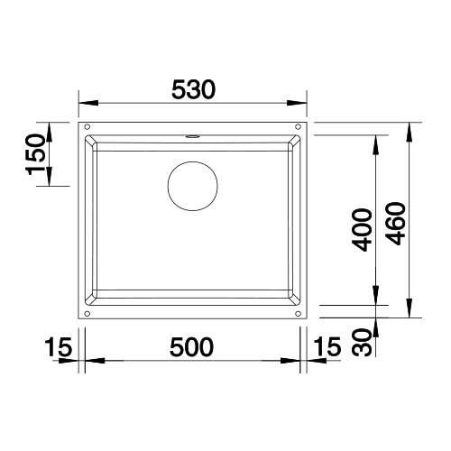 Blanco SUBLINE 500-U Silgranit® PuraDur II® Undermount Kitchen Sink
