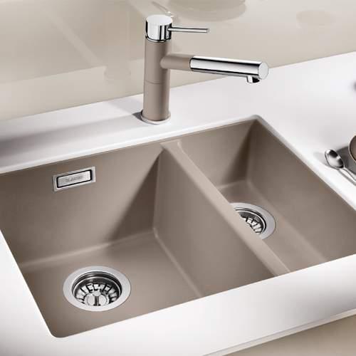 Blanco SUBLINE 340/160-U Silgranit® PuraDur II® 1.5 Bowl Undermount Kitchen Sink