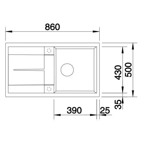 Blanco METRA 5 S Silgranit® PuraDur II® Inset Granite Kitchen Sink