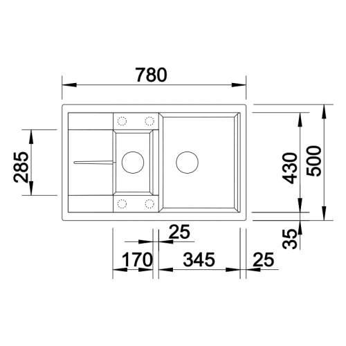 Blanco METRA 6 S COMPACT Silgranit® PuraDur II® Inset Granite Kitchen Sink