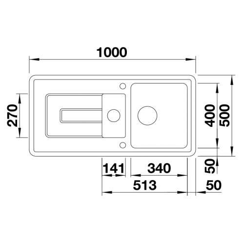 Blanco TOLON 6 S CERAMIC Inset Kitchen Sink BL467808