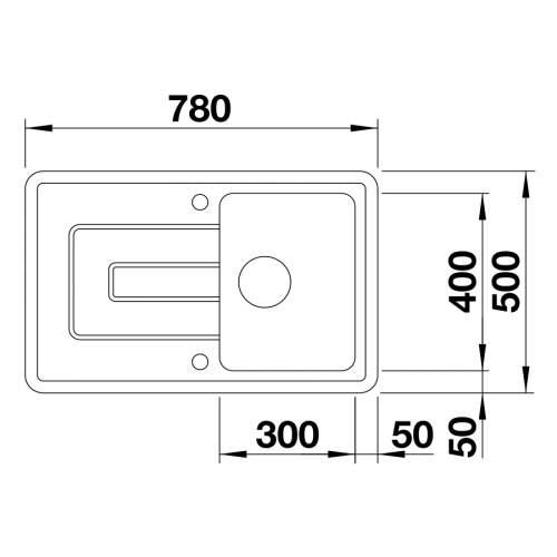 Blanco TOLON 45 S CERAMIC PuraPlus® Inset Compact Kitchen Sink - BL467807