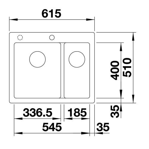 Blanco PLEON 6 SPLIT Silgranit® PuraDur II® Inset Kitchen Sink - BL468203