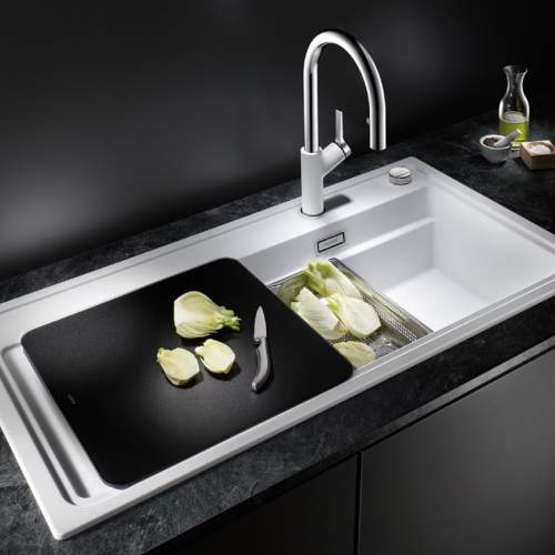 Blanco ZENAR XL 6 S STEAMER PLUS & Glass Board Inset Granite Kitchen Sink
