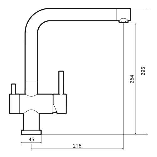 Caple Atmore Puriti Kitchen Filter Tap