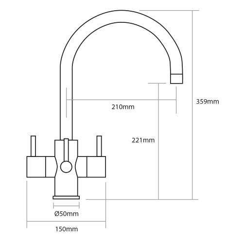 Caple ARDOR Puriti Water Filter Kitchen Tap