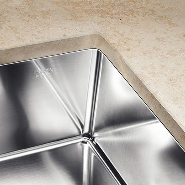 Top Blanco CLARON 500-U Steelart Kitchen Sink - Sinks-Taps.com WW46