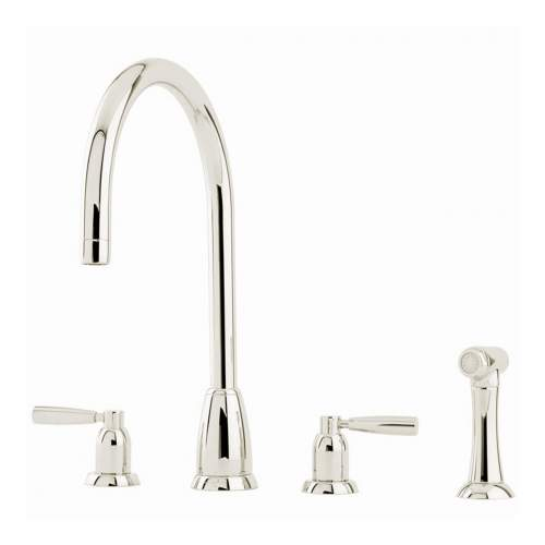 Perrin and Rowe CALLISTO 4891 Four Hole Kitchen Tap with Rinse