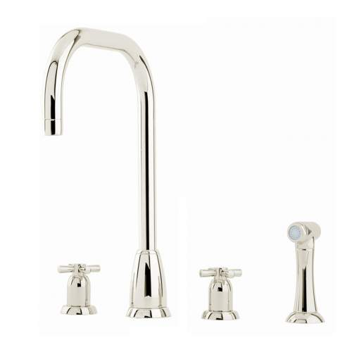 Perrin and Rowe CALLISTO 4892 3 Hole Kitchen Tap with Rinse