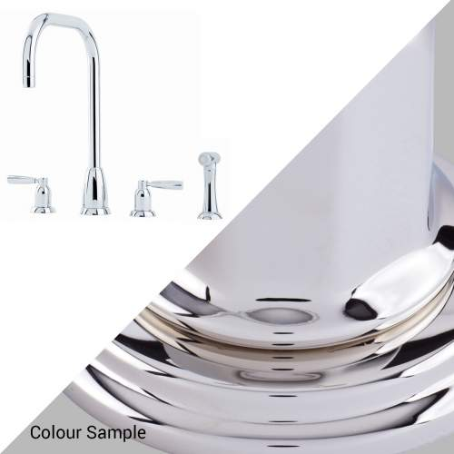 Perrin and Rowe CALLISTO 4893 4 Hole Kitchen Tap with Rinse