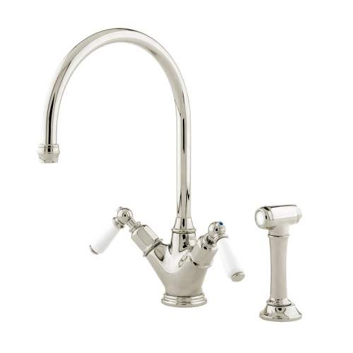 Perrin and Rowe 4367 Minoan Kitchen Tap with Rinse