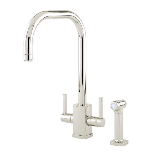 Perrin and Rowe 4310 RUBIQ 'U' Spout Kitchen Tap with Rinse