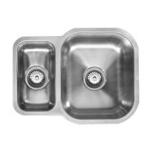 1810 Company ETRODUO 589/450U REV Reversible Undermount Kitchen Sink