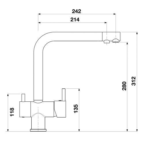 Blanco FILTRA PRO Kitchen Filter Tap in Chrome - BM4650CH
