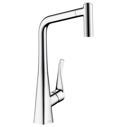 Hansgrohe Metris Select Single Lever Kitchen Mixer Tap 320 with Pull-out Spray - 14884000