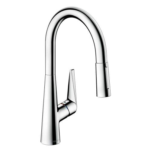 Hansgrohe Talis S 200 Single Lever Kitchen Mixer Tap with Pull-out Spray - 72813000