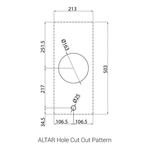 ALTAR PITT by Reginox - 1 PITT Individual Medium Gas Hob