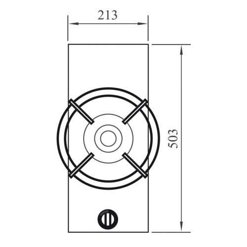 AZUMA PITT by Reginox - 1 PITT  Combined Wok/Simmer Gas Hob