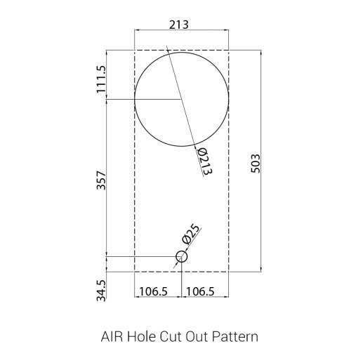 AIR PITT by Reginox - 1 PITT  Individual Combined Wok/Simmer Gas Hob