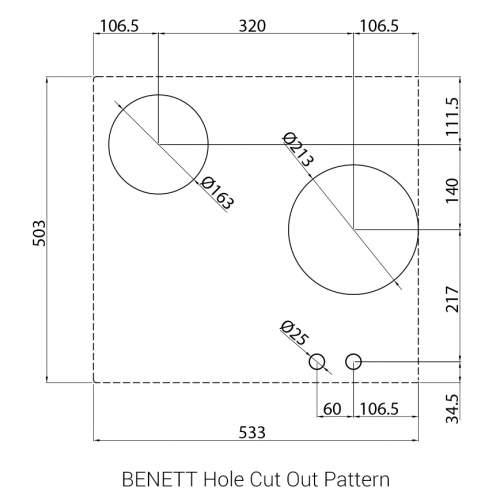 BENNETT PITT by Reginox - 2 PITT  Individual Gas Hobs