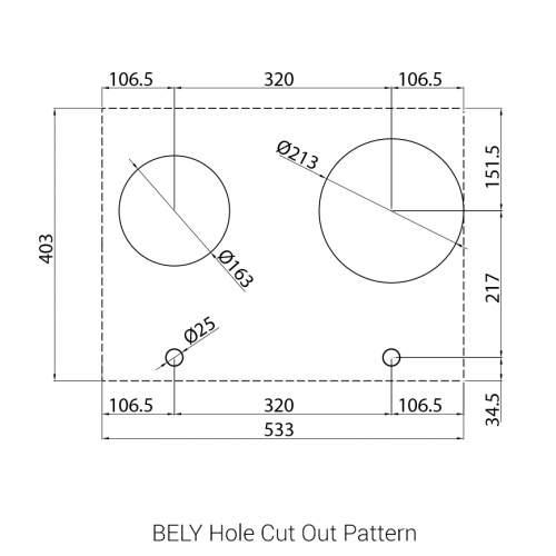 BELY PITT by Reginox - 2 PITT  Individual Gas Hobs