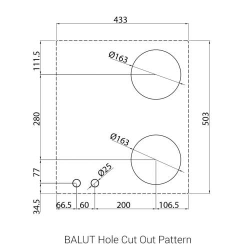 BALUT PITT by Reginox - 2 PITT  Individual Gas Hobs