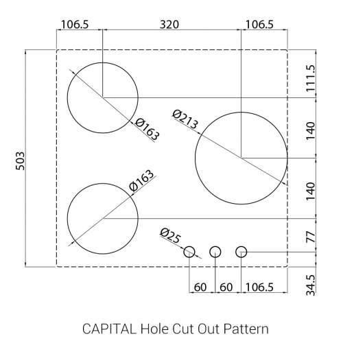 CAPITAL PITT by Reginox - 3 PITT Individual Gas Hobs