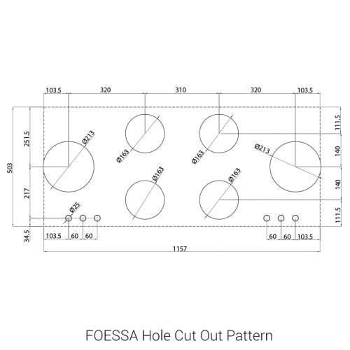 FOESSA PITT® by Reginox - 6 PITT Individual Burner Gas Hobs