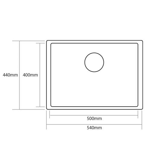 Caple AXLE 50 Inset or Undermount Stainless Steel Kitchen Sink - AXL50