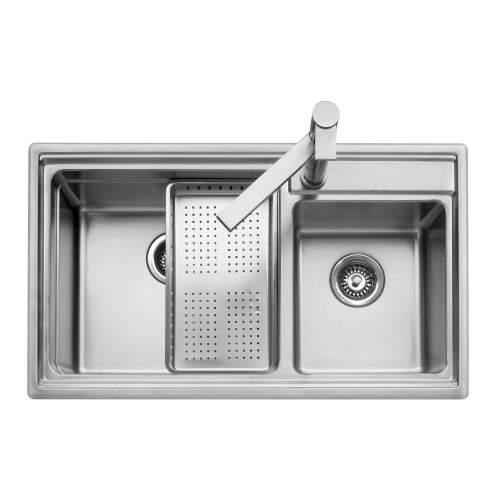 Caple AXLE 175 Inset Stainless Steel 1.75 Bowl Kitchen Sink - AXL175