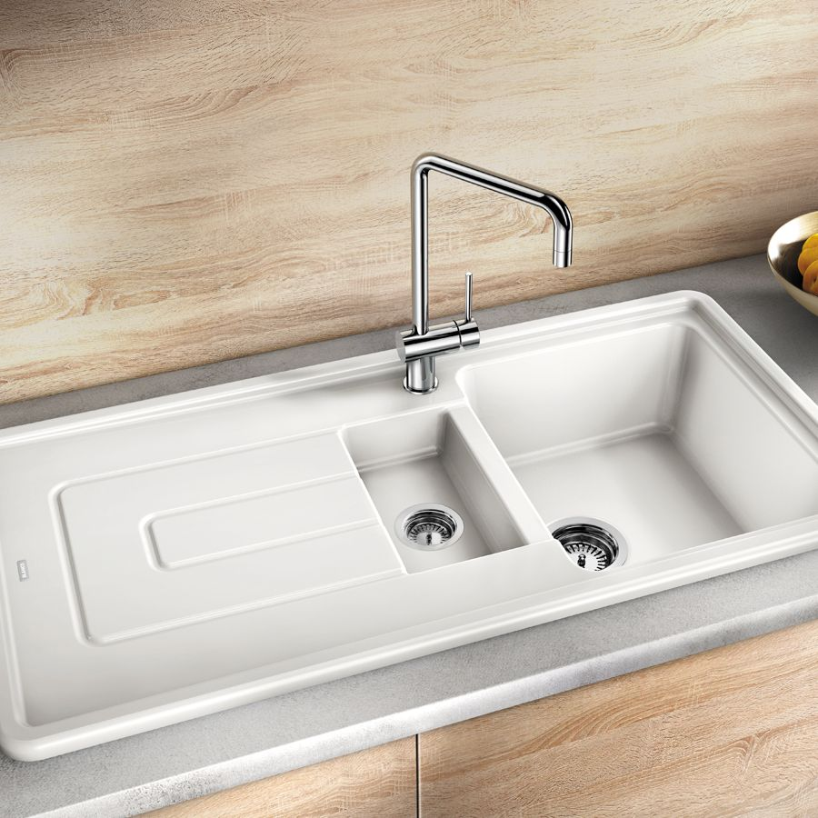 blanco ceramic kitchen sinks blanco tolon 6 s ceramic inset kitchen sink sinks taps 4774