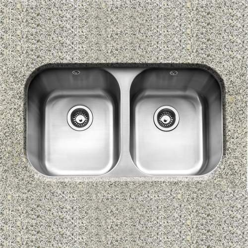 Caple FORM 3636 Double Bowl Undermount Kitchen Sink