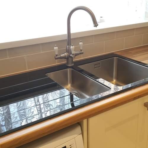 New KBV651 Bluci KubeVetro Glass Kitchen Sink