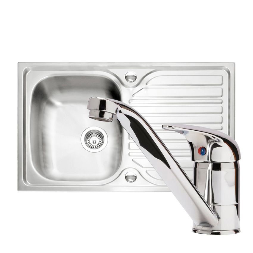 kitchen taps and sinks caple arrow 91 sink and tap pack sinks taps 6229