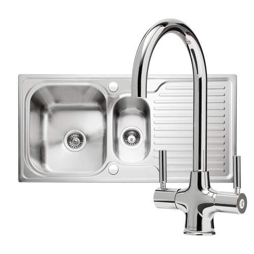 Caple Sabre 150 PK/SA150 Sink and Tap Pack