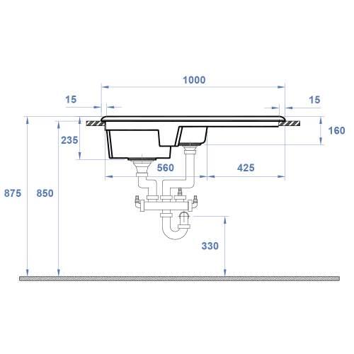 Reginox Ceramic RL301 sink only