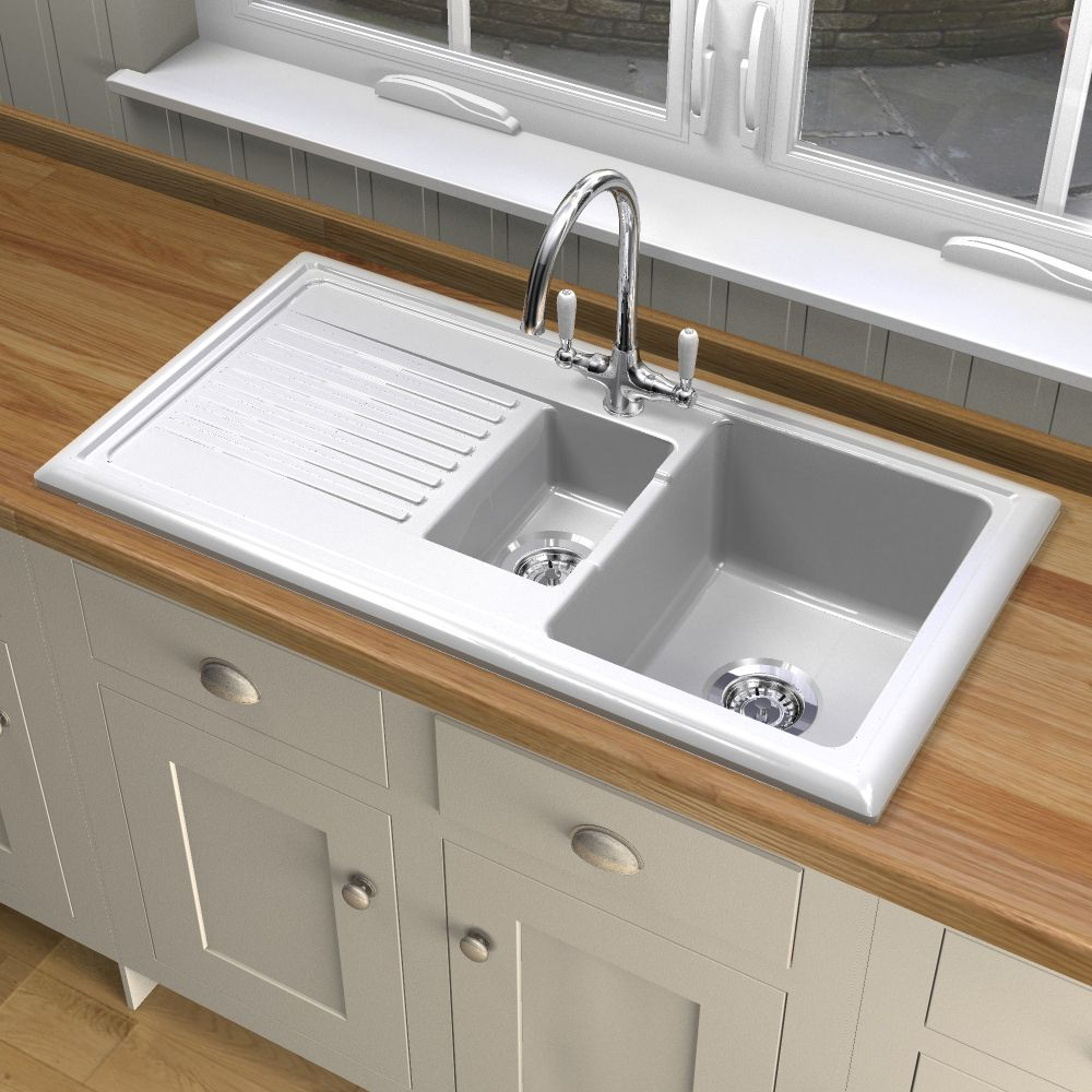 Reginox RL301CW Ceramic sink and Elbe tap - Sinks-Taps.com