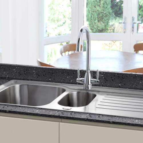 Bluci RUBUS 15 Stainless Steel 1.5 Bowl Kitchen Sink