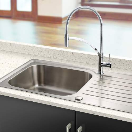 Bluci RUBUS 16 Single Large Bowl Stainless Steel Kitchen Sink
