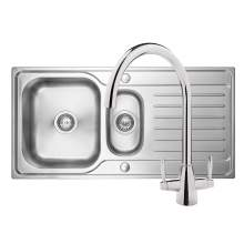Bluci RUBUS 15 1.5 Bowl Kitchen Sink & Rienza Chrome Tap Pack
