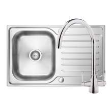 Bluci RUBUS 17 1.0 Bowl Kitchen Sink & Rienza Chrome Tap Pack
