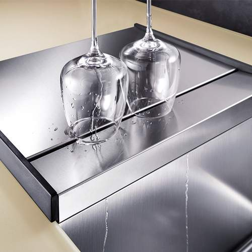 Blanco Steelart Elements Stainless Steel Separate Drainer - BL467637 Lifestyle