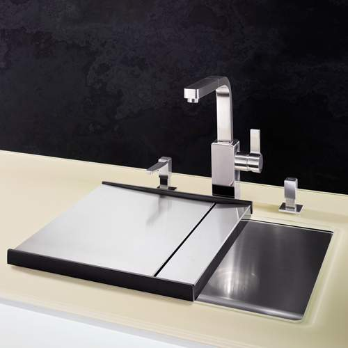 Blanco Steelart Elements Stainless Steel Separate Drainer -BL467637 Lifestyle 2