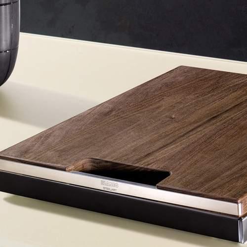 Blanco Steelart Elements Wooden Walnut Finish Chopping Board - BL467638 Lifestyle 2